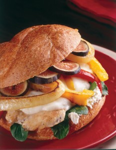 Chicken and Fig Cheese-Steak Sandwich(1)