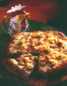 Grilled CA Chicken Pizza with Bartlett Pears