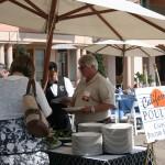 Al fresco buffet lunch at the Monterey Plaza Hotel